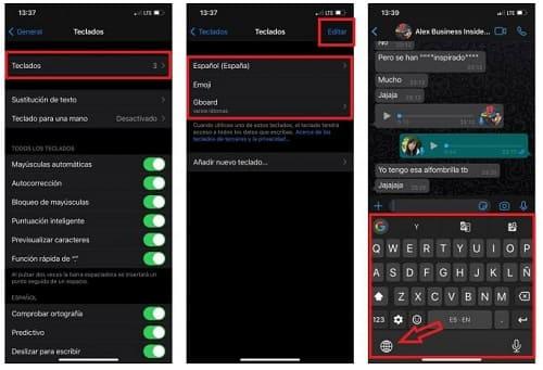 Como trocar o teclado no WhatsApp para iPhone